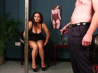 Becky B Pole Dances For Her Man So He Can Masturbate Off In Front Of Her