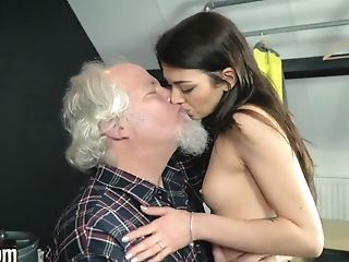 Grandfather Fucks A Beautiful Youthfull Nubile Cunny And Gives Her Oral Internal Ejaculation