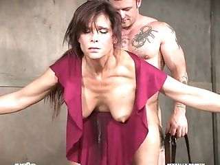 Two Pervy Dudes Fuck Nasty Big-titted Mummy Syren De Mer And Penalize Her Fuckholes