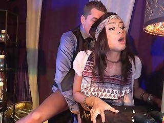 Beautiful Latina Ridding A Fat Stranger's Salami Like Never Before