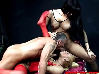 Euro Tgirls Have Threeway With Lucky Boy