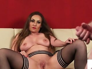 Huge-titted Uk Mummy Helps Naked Sub To Shoot Jism