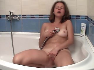 Flawless Teenage Tits And Cunt Washed In The Bathtub