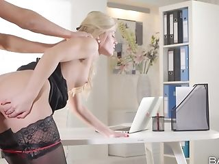 Sweet Cat Is Hot In Black Stockings As She Gets Fucked Good