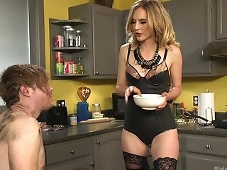 Obedient Hubby Tormented And Pegged By His Lovely Blonde Wifey