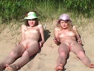 Playing nude games house beach