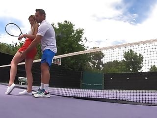 Informal Tennis Lessons End In Barred Outdoor Fuck For Serena Avery