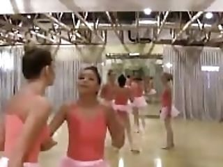 Horny Whorey Teenagers Gets Perverted In Their Dance Studio