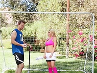 Outdoor Lovemaking On The Football Field With Superstar Kayla Kayden