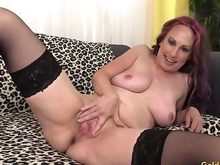 Horny Cougar Zoe Matthews Masturbates Before Taking A Stiff Man Sausage