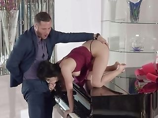 Asian Cutie Is Getting Fucked On The Piano And She Likes It