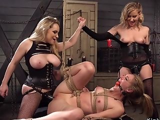 Butt-fucking Whores Rimming 3some Orgy