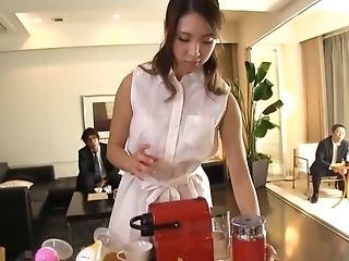 Lactating Big-chested Japanese Stunner Ushio Ayana Milks Herself And Deep Throats Dick