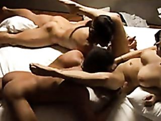 Erotic Threesome In The Artist Studio