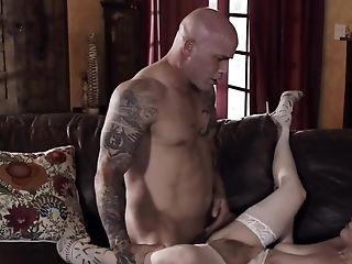 Crimson-haired Penny Pax Gets In Palms Of Brutal Tattooed Plower
