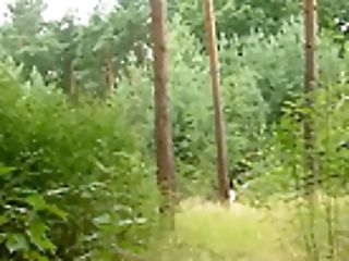 German Teenage Banged In The Forest