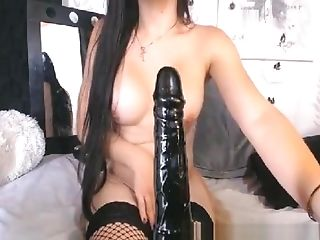 Lady-man Bonks Her Butt With Lengthy And Large Sextoy