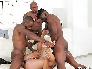 Three Large Black Dicks Are Enough To Make Nina Elle Pleased
