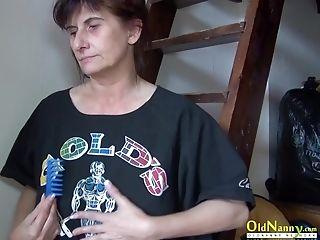 Matures Mom Got Too Horny So She Uses Her Thumbs To Masturbate
