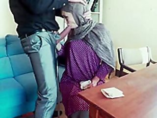 Bashful Arab Slammed With A Turgid Man-meat Inwards Her Mouth