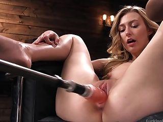 Sex Machine Solo Tryout By Youthful Alexa Grace