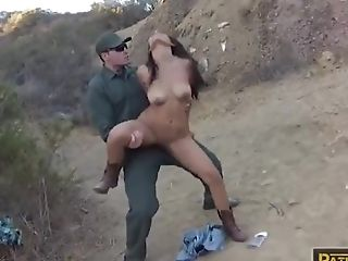 Latina Teenage Female Rails On The Hard Spear Of Bp Officer
