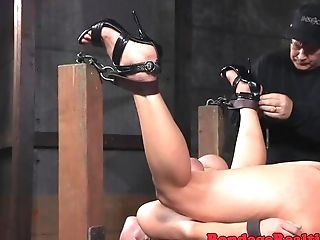 Toyed Cougar Submissive Gets Restrained And Disciplined