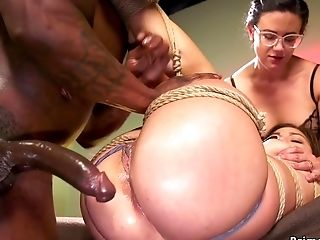 Step Housewife Makes Youthfull Cutie Rail Ample Black Dick