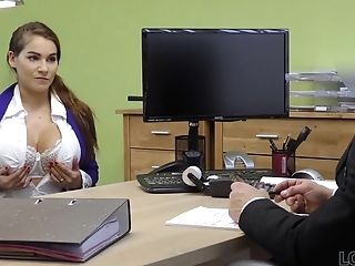 Glad Loan Manager Fucks Mouth And Cunt Of Buxom Lady