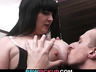 Hitchhiking Dark Haired Fatty Is Picked Up And Fucked