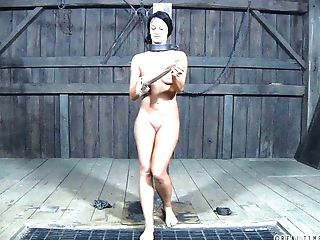 Dirty Dark Haired Chick London Sea Tied Up And Abjected By Her Master