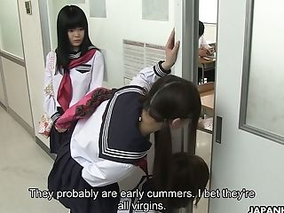 Japanese Nymphomaniac Kaede Oshiro Bangs One Geeky Dude In The Studs's Room