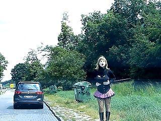 Rubberdoll Monique - Rubberwhore Hooker On German Streets
