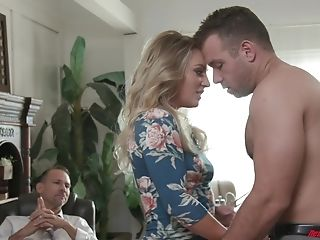 Exotic Blonde Kate Kennedy Cuckolds Her Hubby And Fucks Other Guys