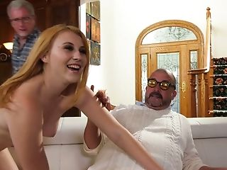 Two Older Dudes Win A Chance To Fuck Smoothly-shaven Muff Of Bootyful Hoe Kinsley Anne