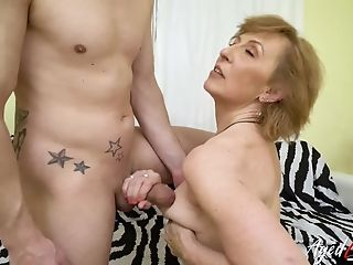 Xxx Grand-ma Fuck Hard-core With Handy Horny Youngster