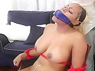 Big Tits Honey Bounded With Boy Covered In Fluid And Frigged!