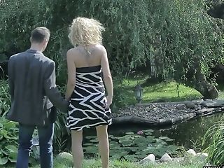 Fairly Bootyful And Rather Too Pallid Auburn Stunner Dorota Takes Dick Into Her Vagina