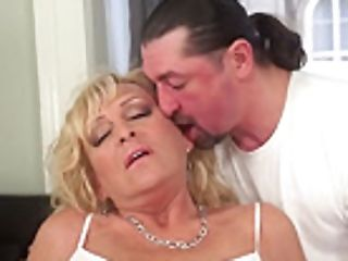 Captivating Granny Sucking And Railing Dick