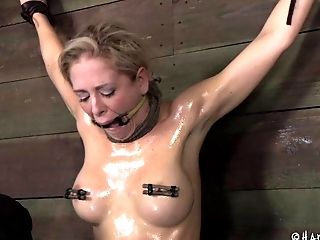 Blonde Beauty Is Captured And Disciplined In A Rough Bondage & Discipline Way