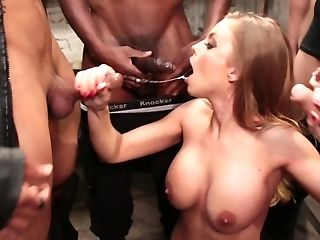 Buxomy Mummy Drilled In All Fuck-holes By A Few Super-naughty Colleagues