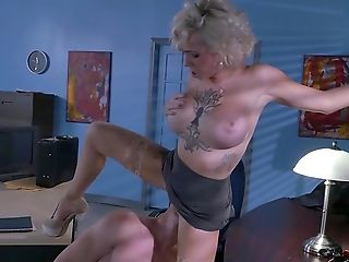 Blonde Assistant Gets Jizzed After A Wild Office Fuck