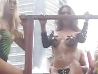 Semi-naked T-damsels On The Street